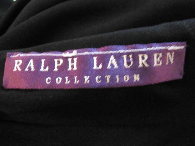 Ralph Lauren Collection Runway One Shoulder Black Evening Gown 5