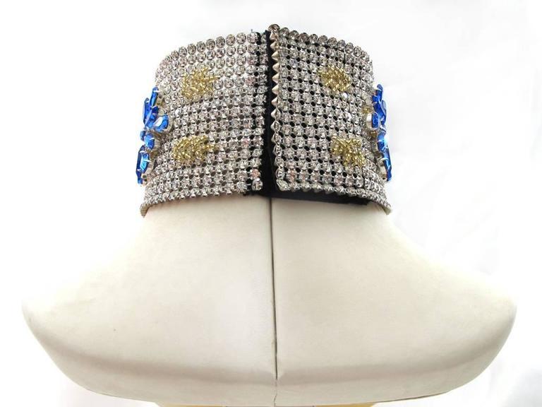 NEW Dolce & Gabbana 3-inch Wide Chocker Rhinestone Necklace 4