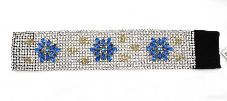 NEW Dolce & Gabbana 3-inch Wide Chocker Rhinestone Necklace 5