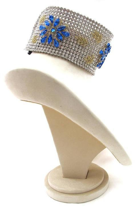 NEW Dolce & Gabbana 3-inch Wide Chocker Rhinestone Necklace 3