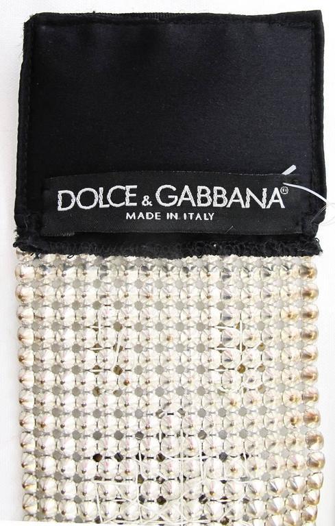 NEW Dolce & Gabbana 3-inch Wide Chocker Rhinestone Necklace 8