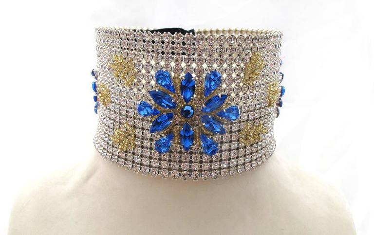 NEW Dolce & Gabbana 3-inch Wide Chocker Rhinestone Necklace 2