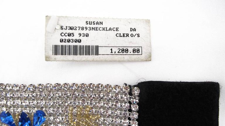 NEW Dolce & Gabbana 3-inch Wide Chocker Rhinestone Necklace 9