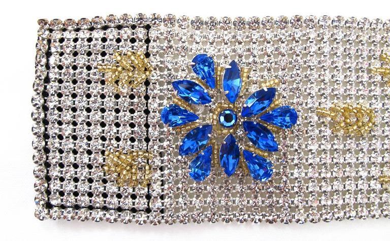 NEW Dolce & Gabbana 3-inch Wide Chocker Rhinestone Necklace 6
