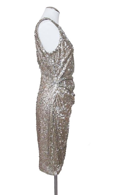 NWT David Meister Gold Sequiin Embellished Sheath Dress  3