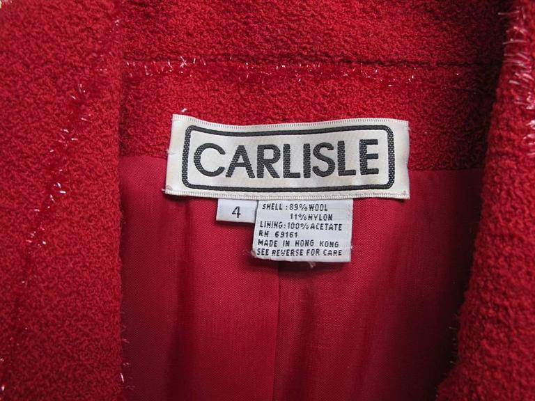 Carlisle Red Wool Blazer  7