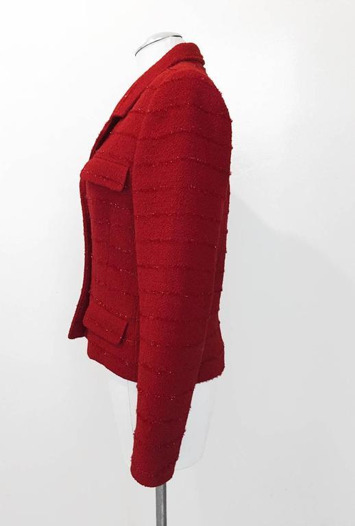 Carlisle Red Wool Blazer  5