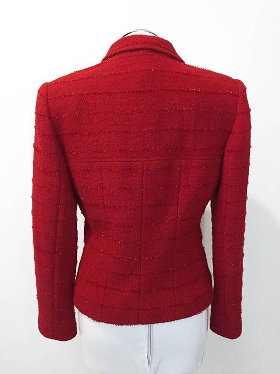 Carlisle Red Wool Blazer  6