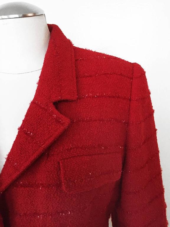 Carlisle Red Wool Blazer  3