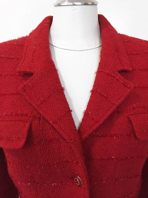 Carlisle Red Wool Blazer  2