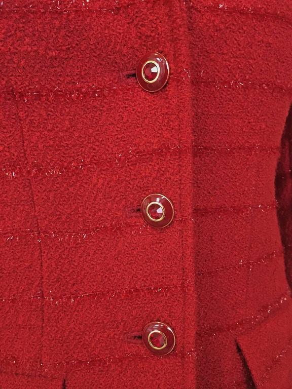 Carlisle Red Wool Blazer  4