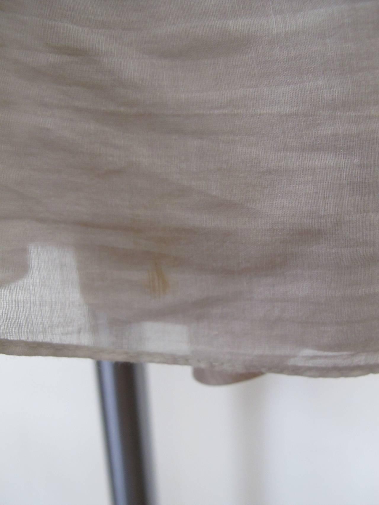 Vera Wang Light Taupe Jeweled Blouse 9