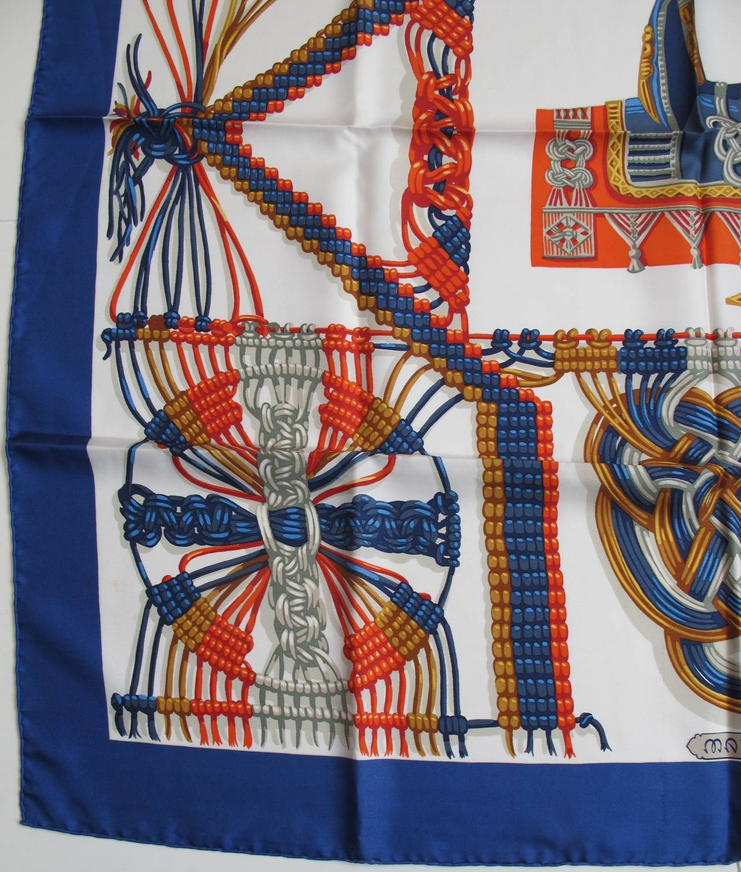 hermes macram 233 silk scarf for sale at 1stdibs