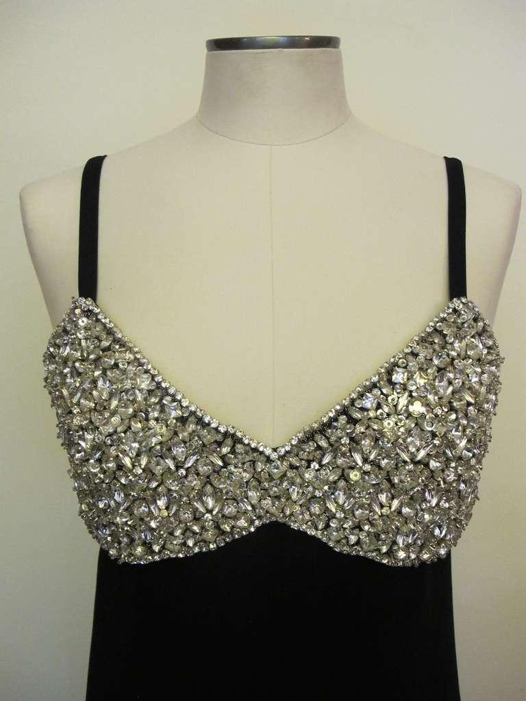 1960's Marie McCarthy for Larry Aldrich Fabulous Rhinestone Dress 2