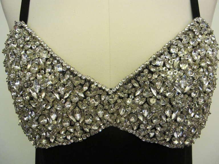 1960's Marie McCarthy for Larry Aldrich Fabulous Rhinestone Dress 3