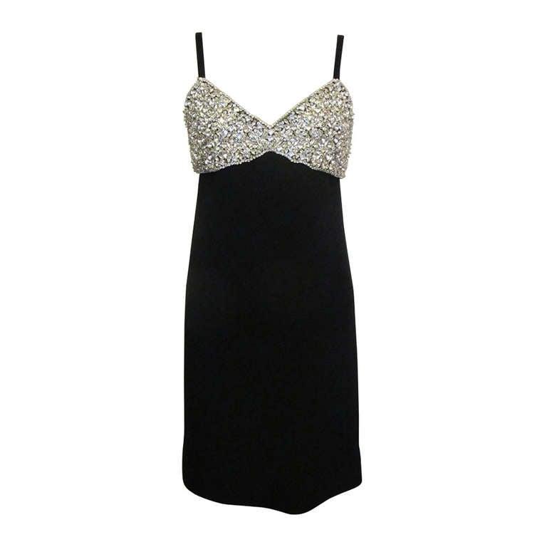 1960's Marie McCarthy for Larry Aldrich Fabulous Rhinestone Dress 1