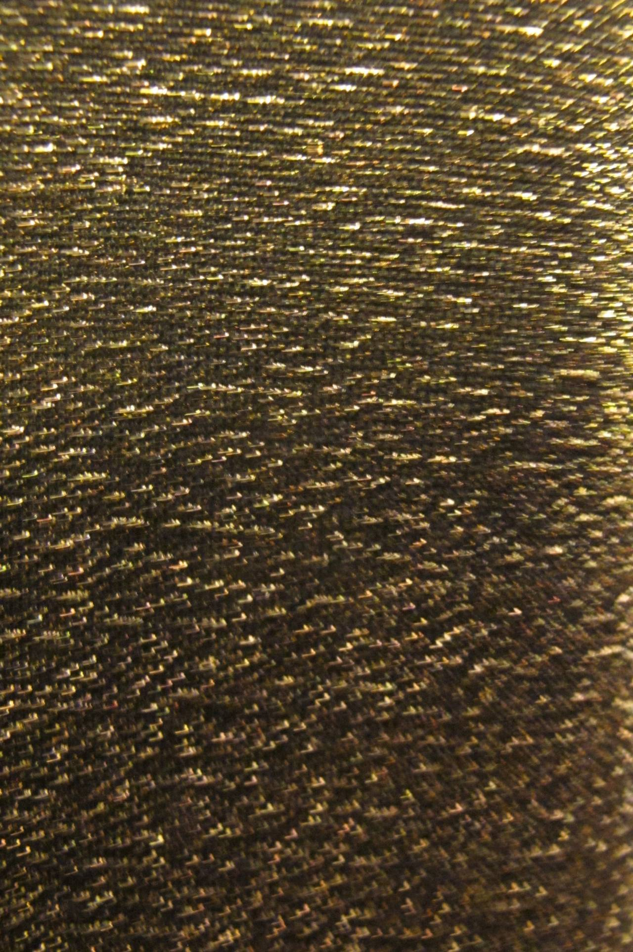 """New Tom Ford """"Gucci"""" Metallic Gold Cocktail Dress with Tiger Ornamentation 6"""