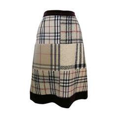 Burberry Patchwork Skirt