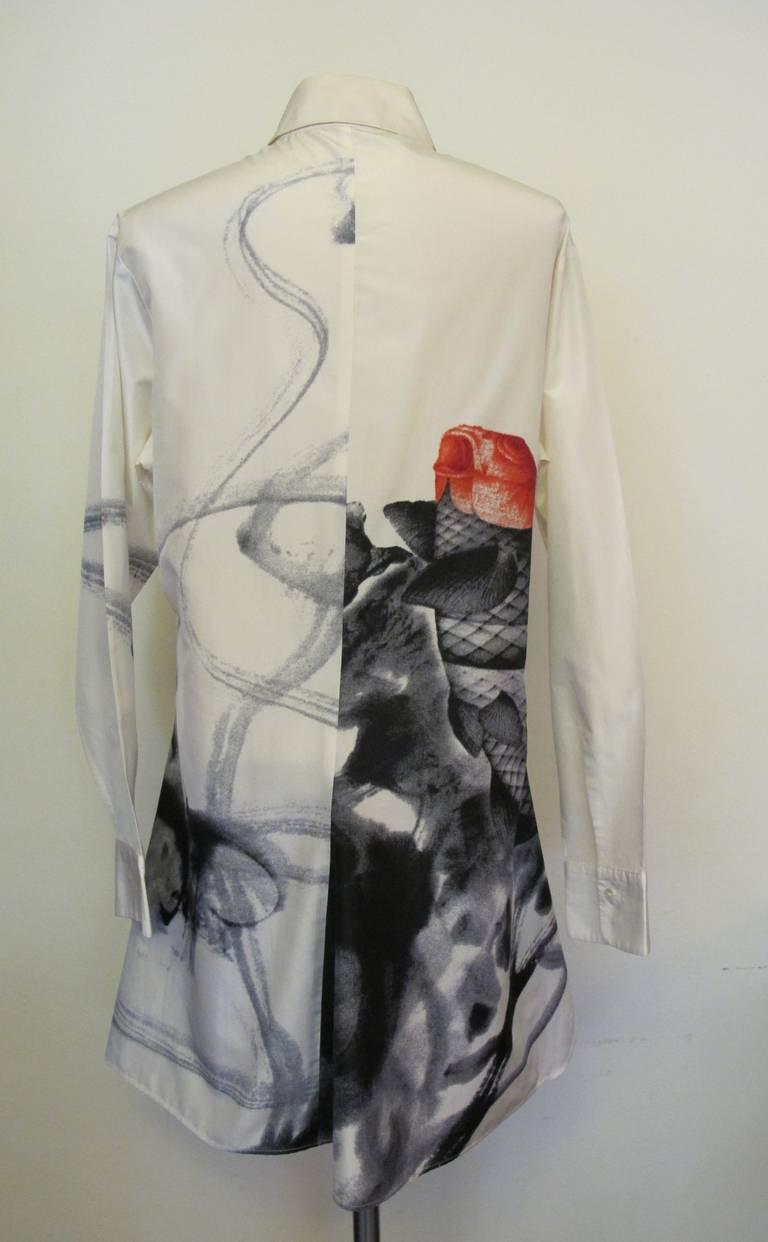 Yohji yamamoto koi fish coat dress at 1stdibs for Koi fish dress