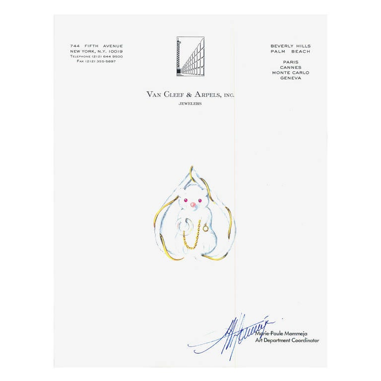 Mouse Couture Sketch by Van Cleef & Arpels, Inc. 1