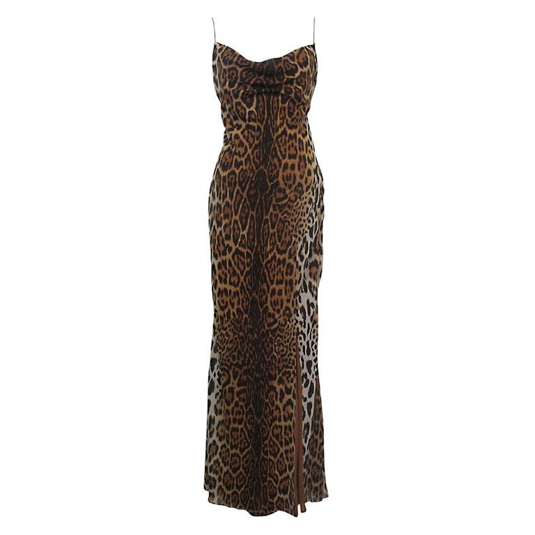 "Christian Dior ""Mitzah"" Winter 2004 Leopard Gown 1"