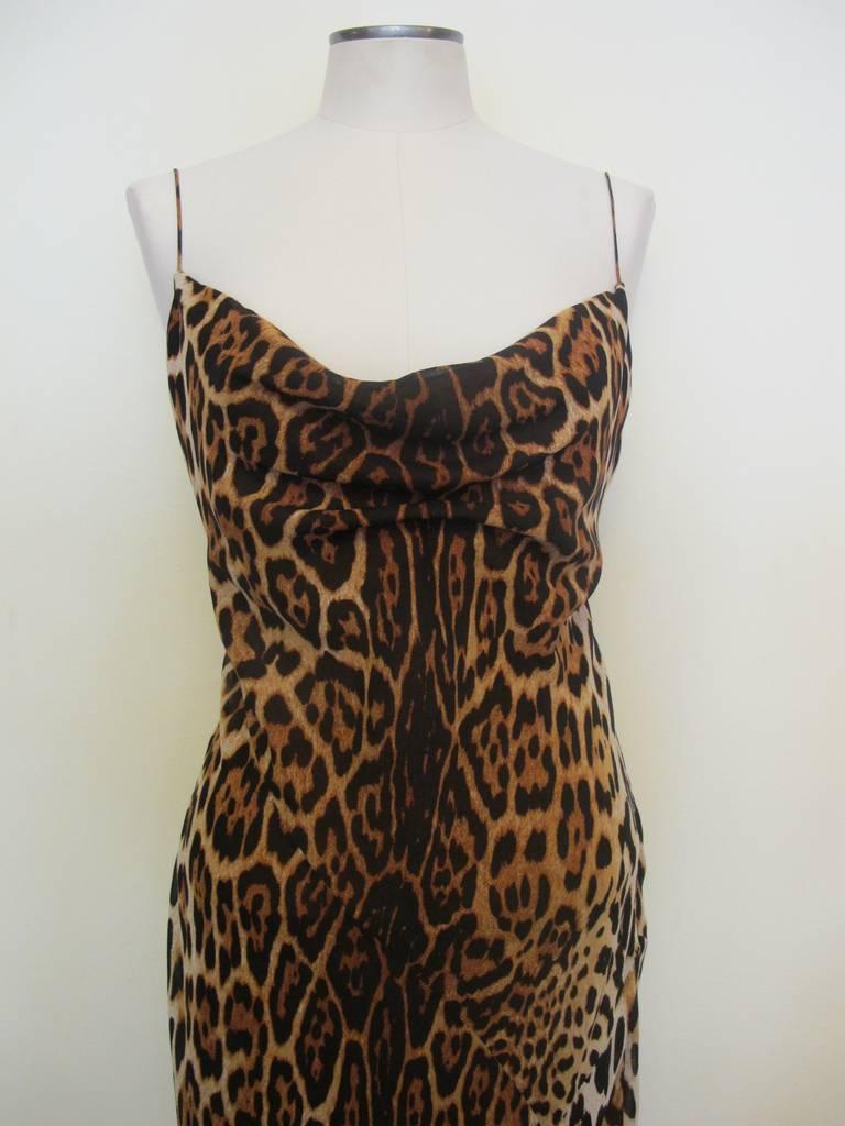 "Christian Dior ""Mitzah"" Winter 2004 Leopard Gown 2"