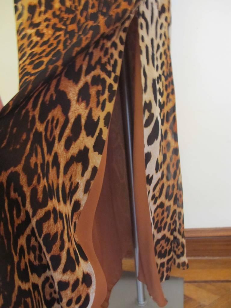 "Christian Dior ""Mitzah"" Winter 2004 Leopard Gown 4"