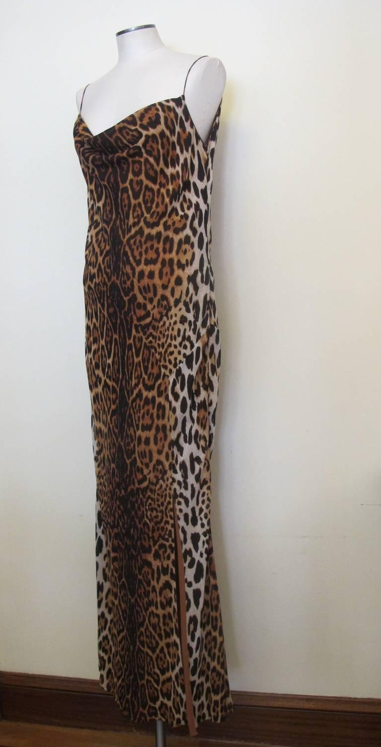"Christian Dior ""Mitzah"" Winter 2004 Leopard Gown 5"