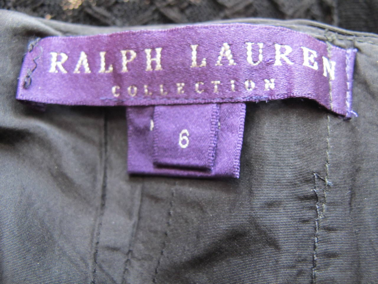 Ralph Lauren Purple Label Silk Taffeta Gown 6