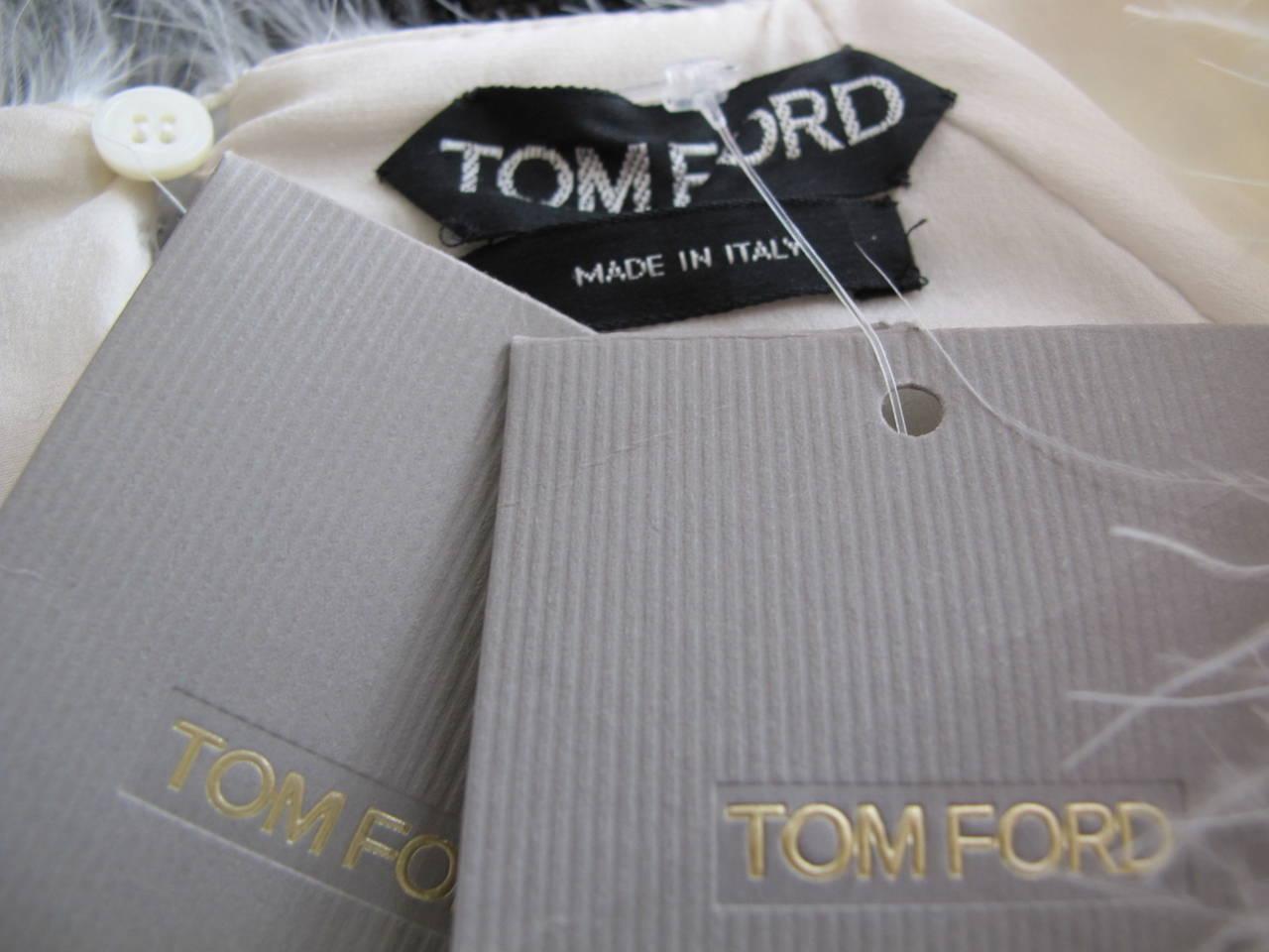 Tom Ford New Luxurious Marabou Jacket 2012 8