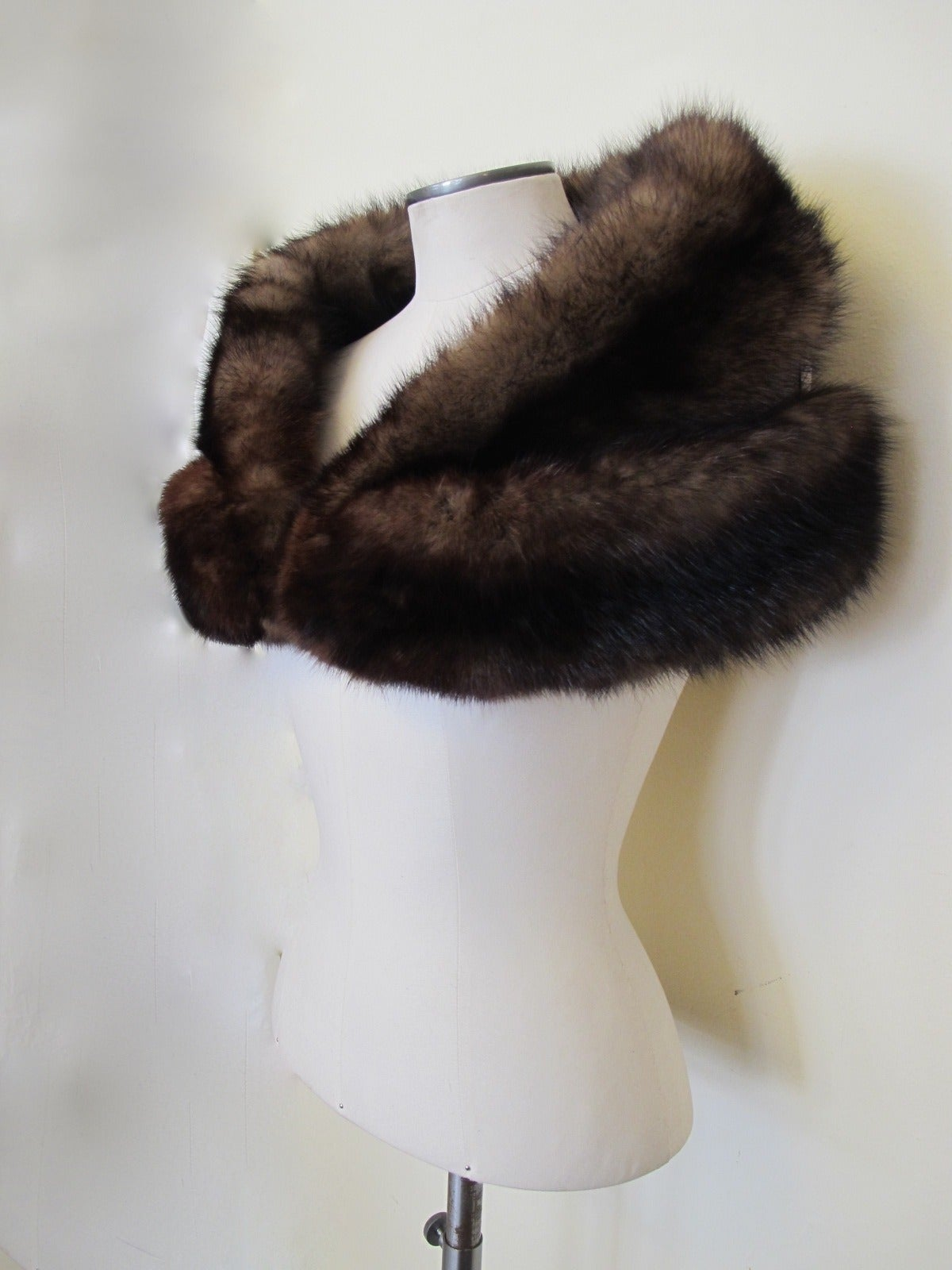 I. Magnin Double Sable Stole 2