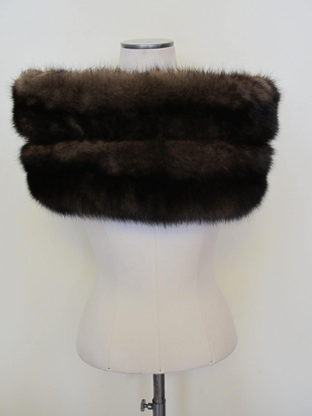 I. Magnin Double Sable Stole 3