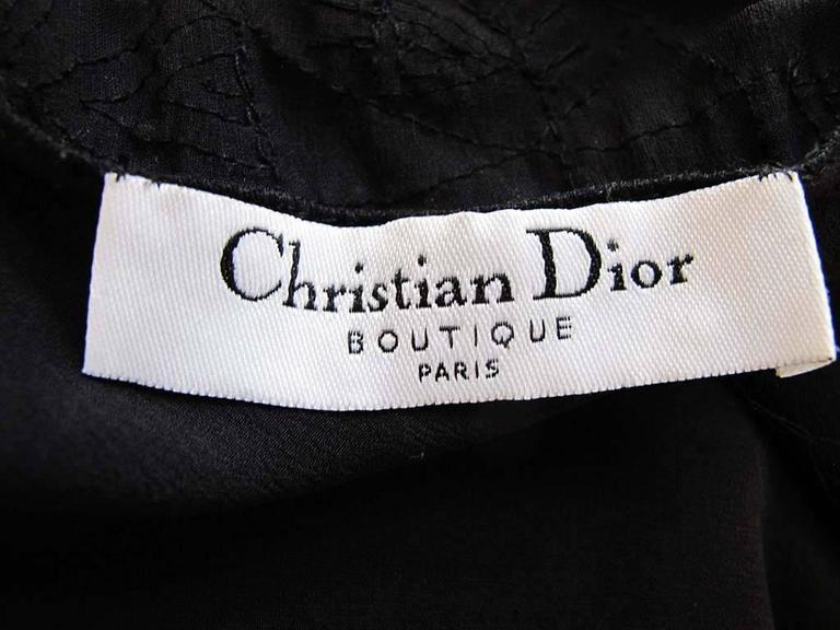 John Galliano for Christian Dior Sleeveless Black Beaded Gown 7