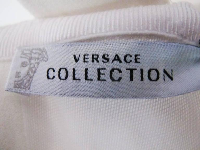 New Versace White Jeweled Halter Evening Gown with Train 6