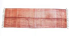 Antique Red and Gold Brocade Silk Scarf