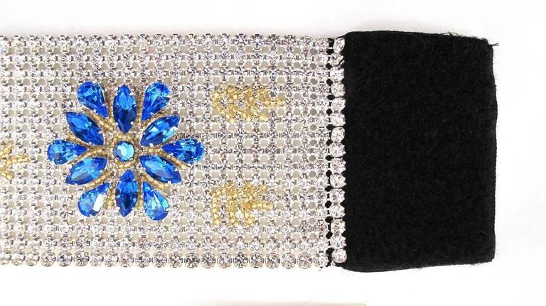 NEW Dolce & Gabbana 3-inch Wide Chocker Rhinestone Necklace 7