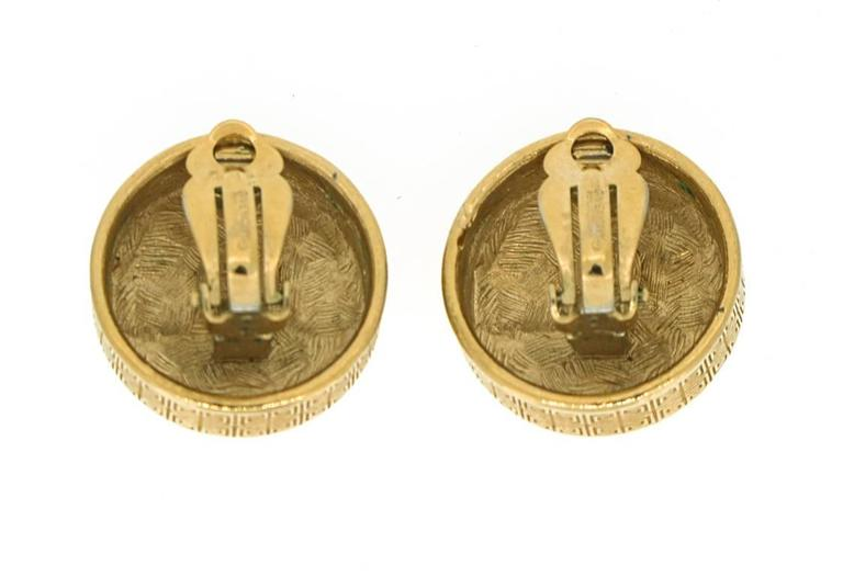 Givenchy Vintage Gold Earrings with Pearl 4