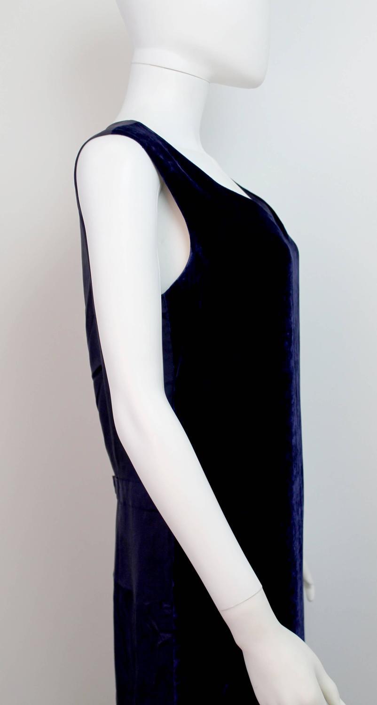 comme des garcons robe de chambre purple velvet dress c. Black Bedroom Furniture Sets. Home Design Ideas