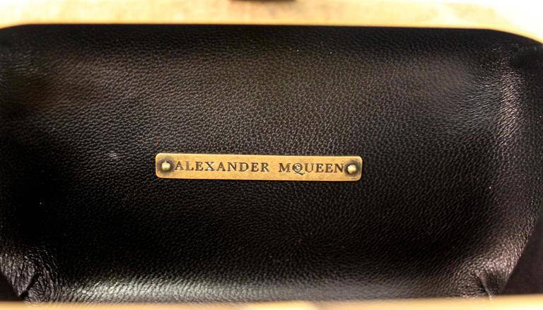 Alexander McQueen Tartan Clutch With Jewelled Skull Closure 7
