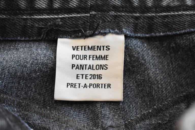 Vetements S/S 2016 Re-worked Levi's Deconstructed Distressed Jeans 7