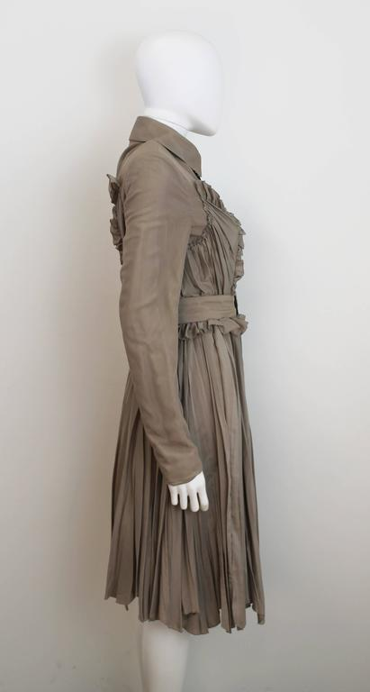 Burberry Prorsum 2010 Silk Coat-Dress with Full Pleated Skirt and Tulle Overlay 2