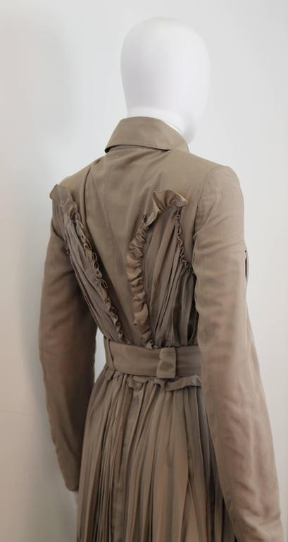 Burberry Prorsum 2010 Silk Coat-Dress with Full Pleated Skirt and Tulle Overlay 4