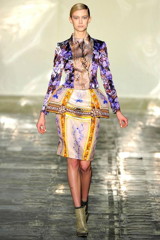 Mary Katrantzou AW 2011 Printed Peplum Skirt 8