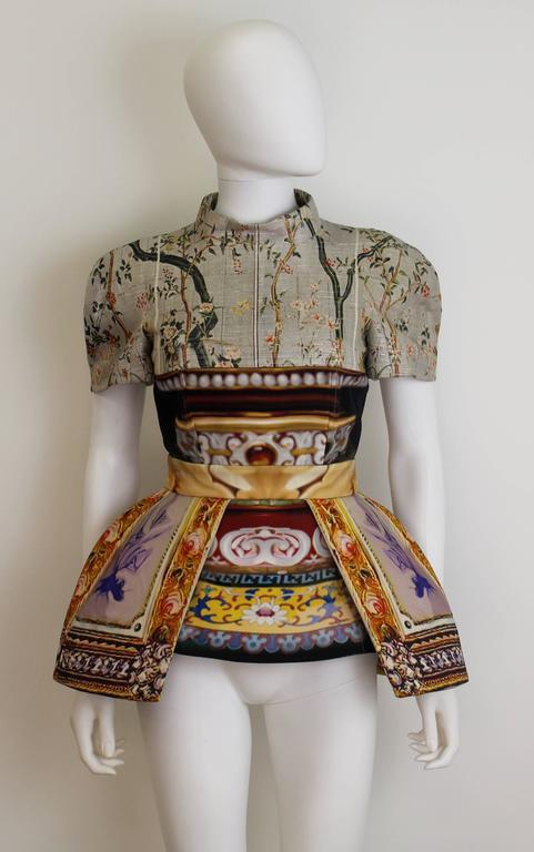 Mary Katrantzou AW 2011 Printed Peplum Skirt 4