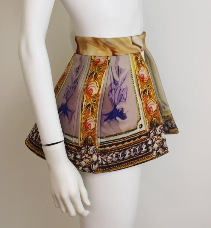 Mary Katrantzou AW 2011 Printed Peplum Skirt 2