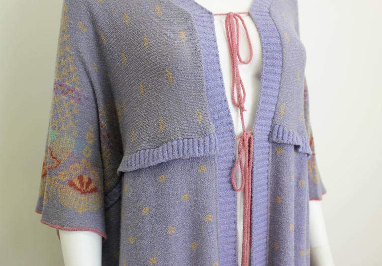 Bill Gibb Kaffe Fassett Knit Coat c.1970 5