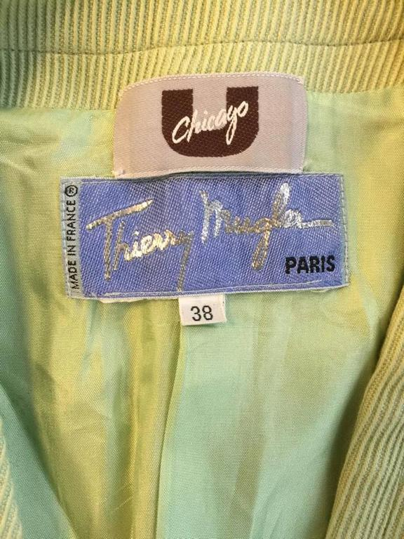 1990's Thierry Mugler Green Lightning Bolt Jacket 8