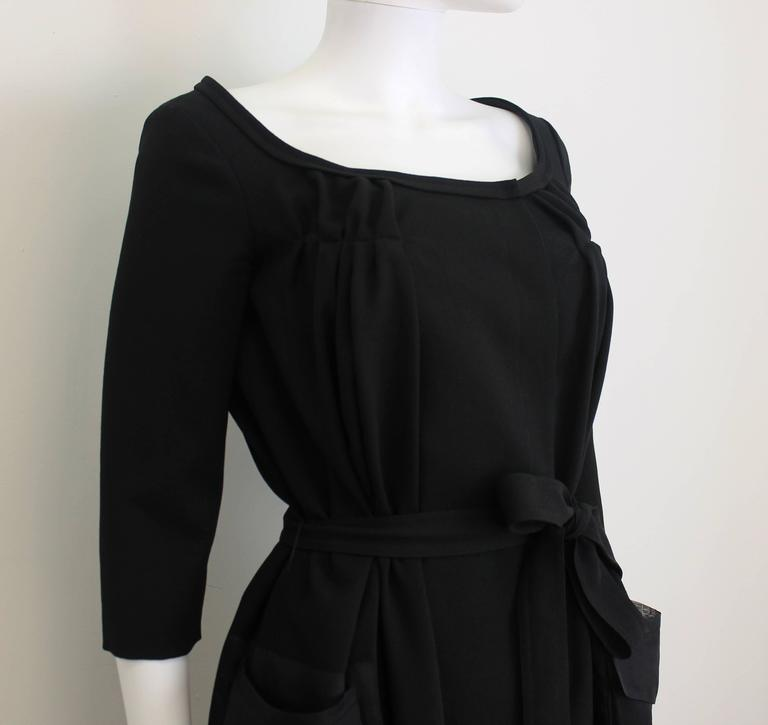 Christian Dior Black Dress with Sheer Pockets 3