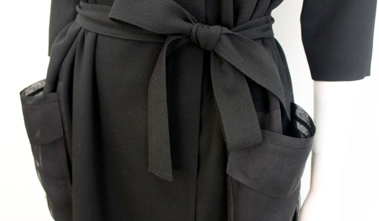 Christian Dior Black Dress with Sheer Pockets 6