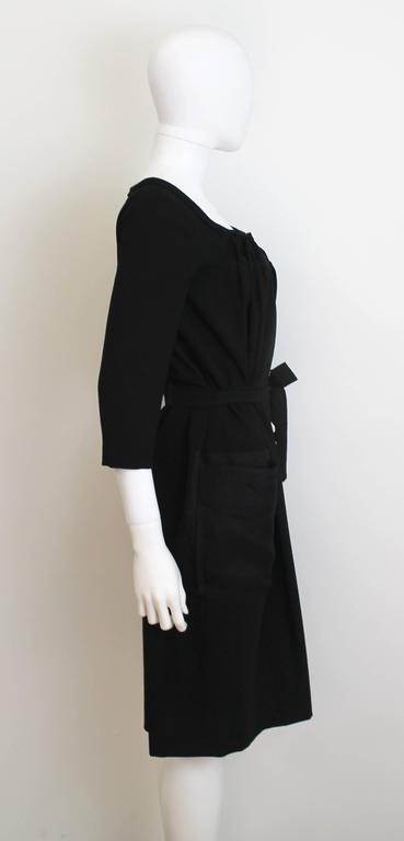 Christian Dior Black Dress with Sheer Pockets 2